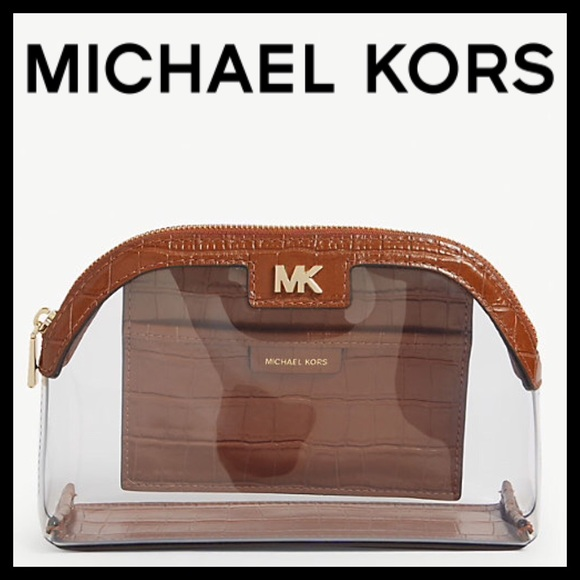 Michael Kors Large PVC & Leather  Travel Pouch